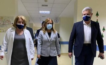 Ελλάδα: Η Υφυπουργός Υγείας Ζωή Ράπτη επισκέφθηκε σήμερα Γενικό Νοσοκομείο Σισμανόγλειο