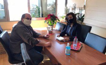 Χαλάνδρι : Συνάντηση Σίμου Ρούσσου με την αντιπεριφερειάρχη Λουκία Κεφαλογιάννη