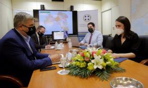 Περιφέρεια Αττικής: Συνάντηση του Περιφερειάρχη Γ. Πατούλη με την Υφυπουργό Εργασίας και Κοινωνικών Υποθέσεων Δόμνα Μιχαηλίδου