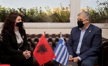Περιφέρεια Αττικής : Επίσκεψη της Πρέσβειρας της Αλβανίας Luela Hajdaraga στον Περιφερειάρχη Αττικής Γ. Πατούλη