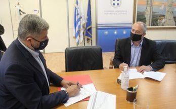 Υπογράφηκε από τον Περιφερειάρχη και τον Δήμαρχο η προγραμματική σύμβαση για την ανακαίνιση των τριών σεισμόπληκτων σχολείων της πόλης