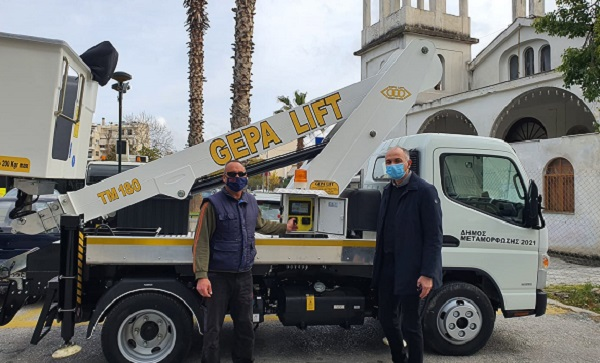 Μεταμόρφωση: Νέο γερανοφόρο-καλαθοφόρο όχημα στο Δήμο