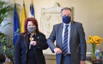 Νέα Ιωνία: Συνάντηση της Δημάρχου με τον Βουλευτή Γεώργιο Κουμουτσάκο