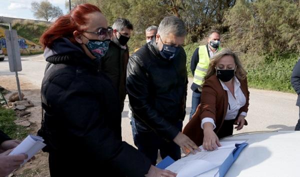 Περιφέρεια Αττικής: Επίσκεψη του Περιφερειάρχη Αττικής Γ. Πατούλη στα αντιπλημμυρικά έργα στη Λ. Βάρης –Κορωπίου