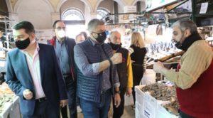 Περιφέρεια Αττικής: Επίσκεψη του Περιφερειάρχη Αττικής Γ. Πατούλη στη Βαρβάκειο Αγορά