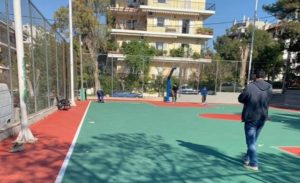 Λυκόβρυση Πεύκη: Συνεχίζονται οι εργασίες ανακατασκευής του ανοιχτού γηπέδου καλαθοσφαίρισης στην Κάτω Πεύκη