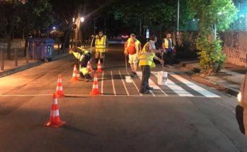 Κηφισιά: Συνεχίζουν οι επιδιορθώσεις των διαγραμμίσεων στους δρόμους του Δήμου