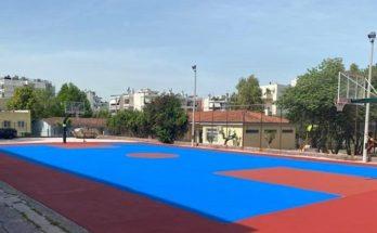 Μεταμόρφωση: Εργασίες ακρυλικής βαφής στα εξωτερικά γήπεδα μπάσκετ και βόλεϊ στο Κλειστό Γυμναστήριο Κ. Αρβανίτης «Γ.α.ο Κουκουβαούνων»