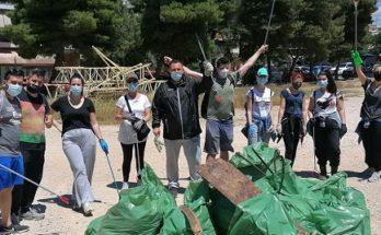 Νέα Ιωνία: Νέα επιτυχημένη δράση καθαρισμού από την ομάδα save your hood στο δάσος της ΕΥΔΑΠ