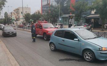 Βριλήσσια: Καραμπόλα με τρία αυτοκίνητα στην Λ Πεντέλης