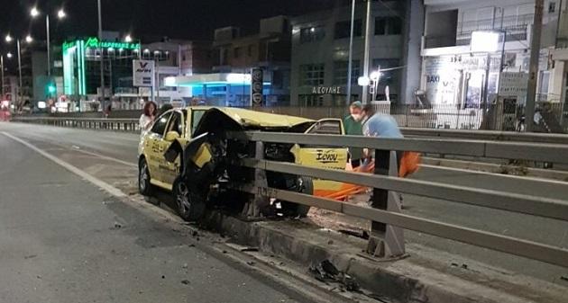 Ηράκλειο Αττικής: Τροχαίο ατύχημα χθες το βράδυ στη Λ. Κύμης