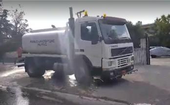 Λυκόβρυση Πεύκη : Πλύσεις και απολυμάνσεις οδών στις γειτονιές του Δήμου