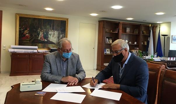 Υπογραφή Μνημονίου Συνεργασίας για το σύστημα «ΙΡΙΔΑ» μεταξύ Δήμου Αμαρουσίου και Υπουργείου Εσωτερικών