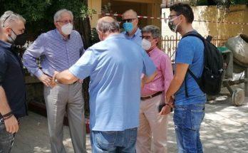 Μαρούσι : Αυτοψίες του Δημάρχου Αμαρουσίου σε έργα στις οδούς Μιλτιάδου, Ι. Δούση και στη Βορέειο Βιβλιοθήκη