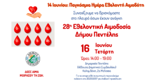 Παγκόσμια Ημέρα Εθελοντικής Αιμοδοσίας