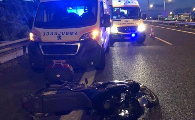 Τροχαίο με σοβαρό τραυματισμό χθες το βράδυ πριν την έξοδο της Αττικής οδού προς Μαρκόπουλο