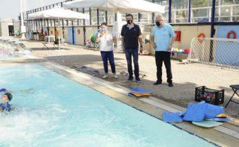 ο Δήμαρχος Αμαρουσίου Θεόδωρος Αμπατζόγλου, επισκέφτηκε τους χώρους όπου διεξάγονται οι δραστηριότητες του Αθλητικού & Πολιτιστικού Camp 2021