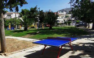 Πεντέλη: Τοποθετηθήκαν τα πρώτα τραπέζια ping pong εξωτερικού χώρου