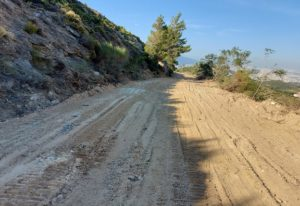 ΣΠΑΠ : Ολοκλήρωσε την συντήρηση του δασικού δρόμου που καταλήγει στο πρώην λατομείο Μπάνου
