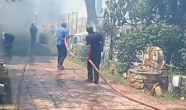 Οι εργαζόμενοι και οι εθελοντές του ΣΠΑΠ ξεπερνώντας κάθε δυσκολία, έδωσαν πραγματική μάχη με την πύρινη λαίλαπα