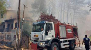ΣΠΑΠ : Άμεση και αποτελεσματική επέμβαση στην καταστροφική πυρκαγιά που ξέσπασε στη Σταμάτα και στη Ροδόπολη