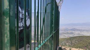 το τρίτο πλάτωμα Καισαριανής πέρση ο ΣΠΑΥ είχε τοποθετήσει ένα παρατηρητήριο πυροφύλαξης του βουνού