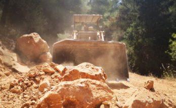 ΣΠΑΥ : Το Σαββατοκύριακο μηχανήματα έργου εργάστηκαν ασταμάτητα συντηρώντας αρκετά χιλιόμετρα δύσβατων δασικών δρόμων του Υμηττού