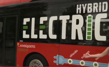 Λάρισα : Το πρώτο υβριδικό λεωφορείο στην Ελλάδα που κυκλοφορεί από χθες στη Λάρισα