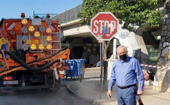 Μαρούσι: Αυτοψίες του Δημάρχου σε εργασίες επισκευής οδοστρώματος σε πολλά σημεία της πόλης