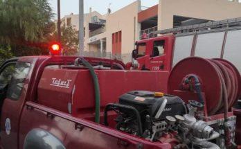 Πεντέλη: Πυρκαγιά σε κάδο ανακύκλωσης στην οδό Αλεξανδρουπόλεως στα Μελίσσια
