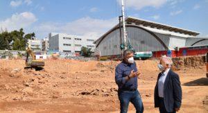Περιφέρεια Αττικής: Επίσκεψη του Περιφερειάρχη στα έργα κατασκευής του νέου κλειστού Γυμναστηρίου στη Ν. Σμύρνη, που πραγματοποιούνται με χρηματοδότηση της Περιφέρειας