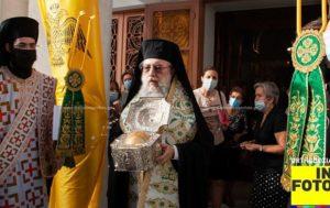 Λυκόβρυση Πεύκη: Στην υποδοχή της τιμίας κάρας της Αγίας νεομάρτυρος Ελένης της Σινωπίτιδας από τον ναό των Αγίων Αποστόλων Πέτρου και Παύλου ο Δήμαρχος