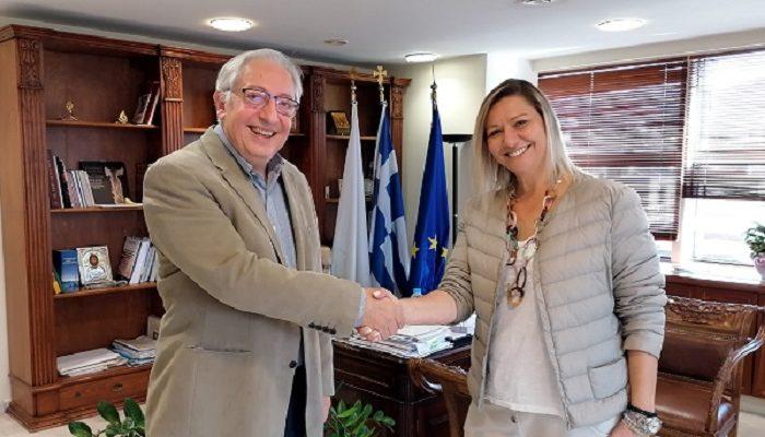 Μαρούσι: Συνάντηση του Δημάρχου Αμαρουσίου με τη νέα Πρόεδρο του Εμπορικού Συλλόγου της πόλης