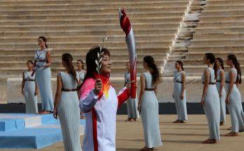 Μαρούσι: Εκπροσώπηση του Δήμου Αμαρουσίου στην τελετή παράδοσης της Ολυμπιακής Φλόγας στην Οργανωτική Επιτροπή Διοργάνωσης των Χειμερινών Ολυμπιακών Αγώνων «Πεκίνο 2022»