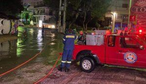 Πεντέλη: Η χτεσινή βροχόπτωση προκάλεσε αρκετά προβλήματα στους δρόμους του Δήμου