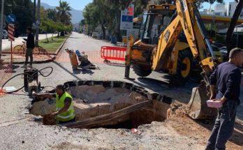 Περιφέρεια Αττικής ΠΕΒΤΑ: Συνεχίζονται από την Περιφέρεια οι εργασίες αποκατάστασης του οδοστρώματος στην οδό Παπανικολή του Δήμου Χαλανδρίου