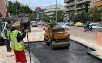 Περιφέρεια Αττικής: Αποκαταστάθηκε πλήρως το πρόβλημα με το οδόστρωμα επί της οδού Παπανικολή στο Χαλάνδρι